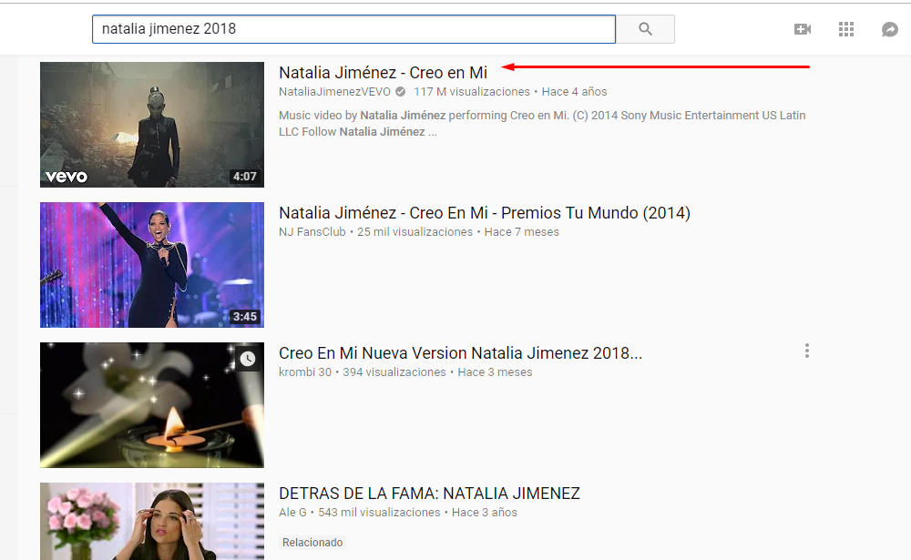 Youtube-dl - Selección de video