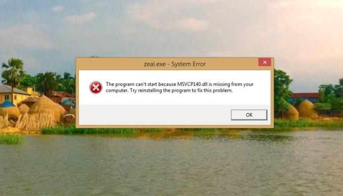 msvcp140_dll_missing_error