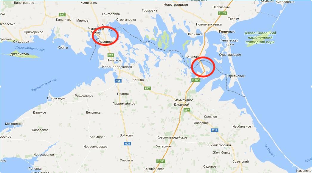Российская Федерация награнице сКрымом роет окопы иподогнала «Град»— Генштаб