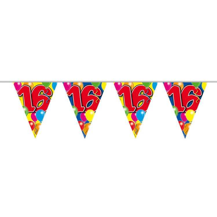 16 jaar slinger ballonnen - 10 meter