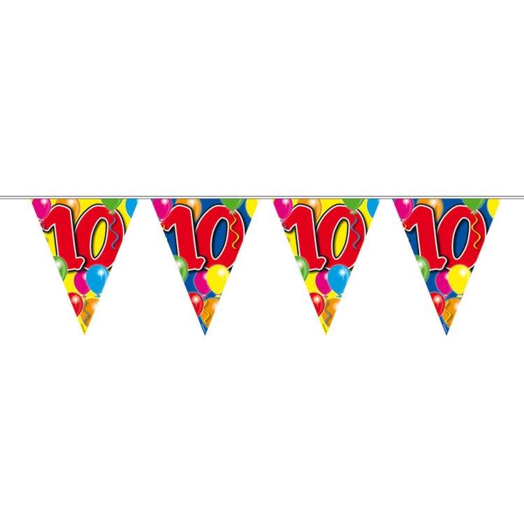 10 jaar slinger balloons - 10 meter