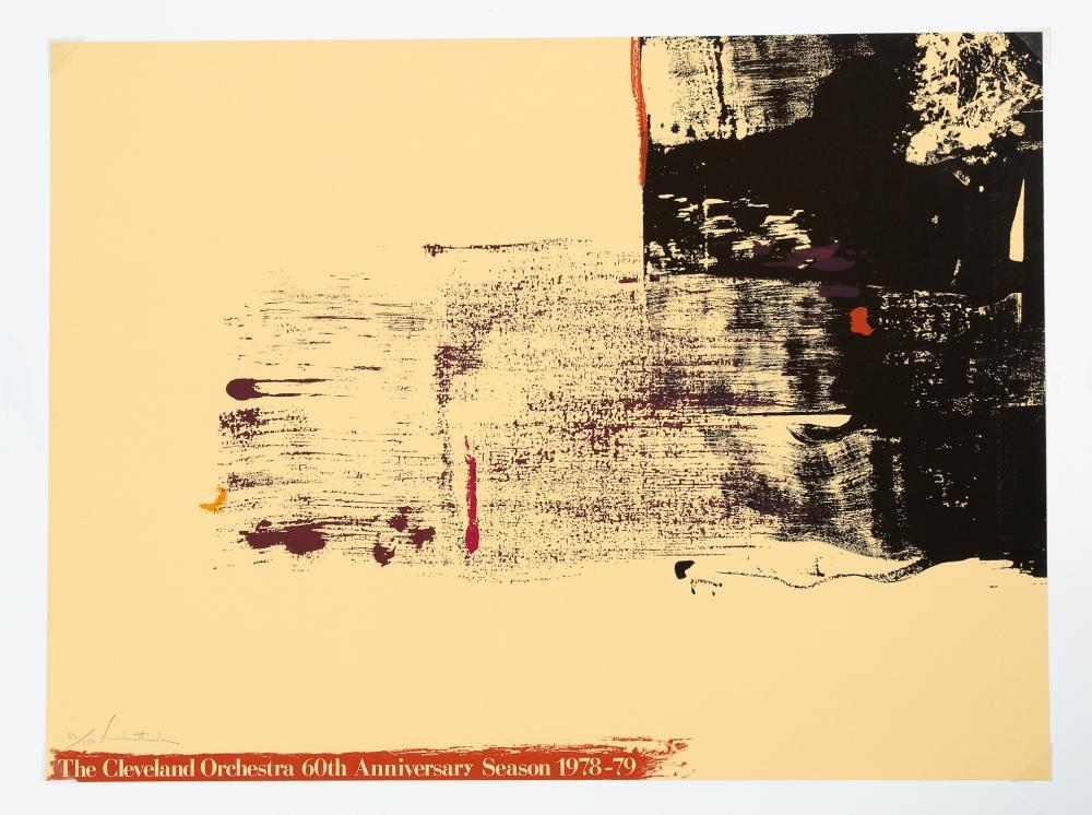 helen frankenthaler signed 1978 orchestra poster
