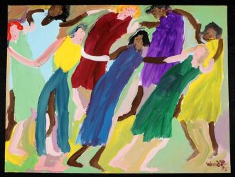 Image result for holding hands in a circle painting