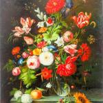 Sold Price Oil Painting On Canvas Of A Potted Flowers Invalid Date Pst