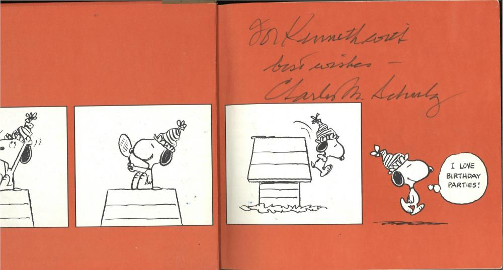 Sold Price Charles Shultz Signed Hardback Book Happy Birthday Charlie Brown Inscribed To Kenneth Best August 5 0119 10 00 Am Bst