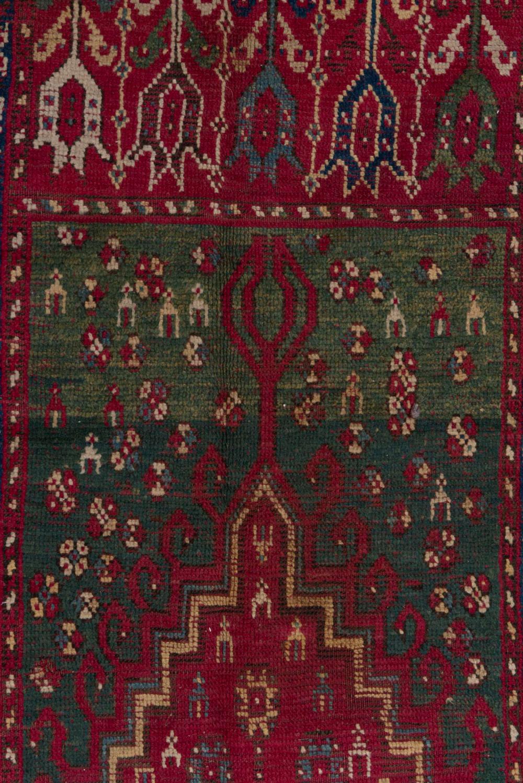 tapis de priere rabat du maroc en laine fin xixe