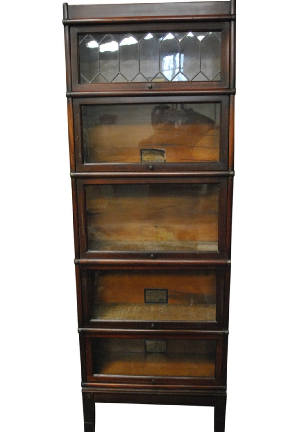 Antique Globe Wornicke Barrister Bookcase 5 Stack