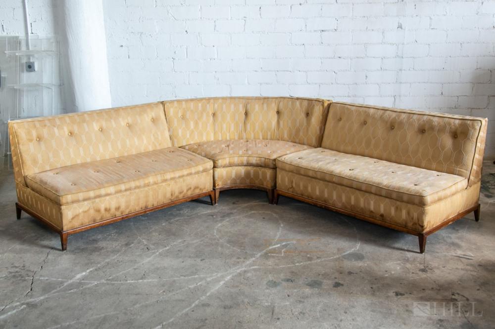 widdicomb 3 piece vintage pit group sectional sofa