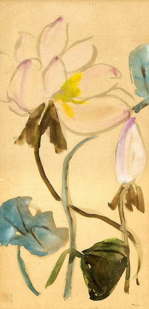 Chinese Art Chinesische Malerei Plum Pflaumenblute Bamboo