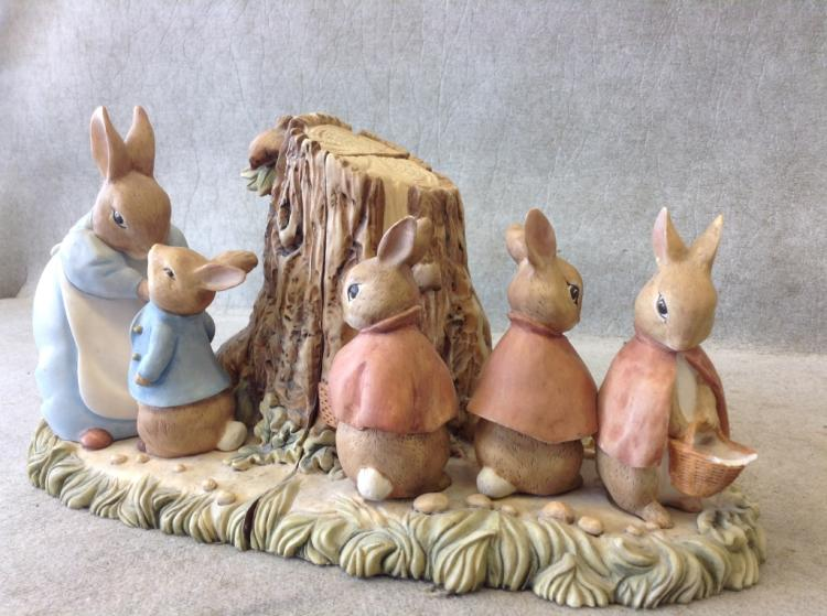 1994 Beatrix Potter Peter Rabbit Bookends