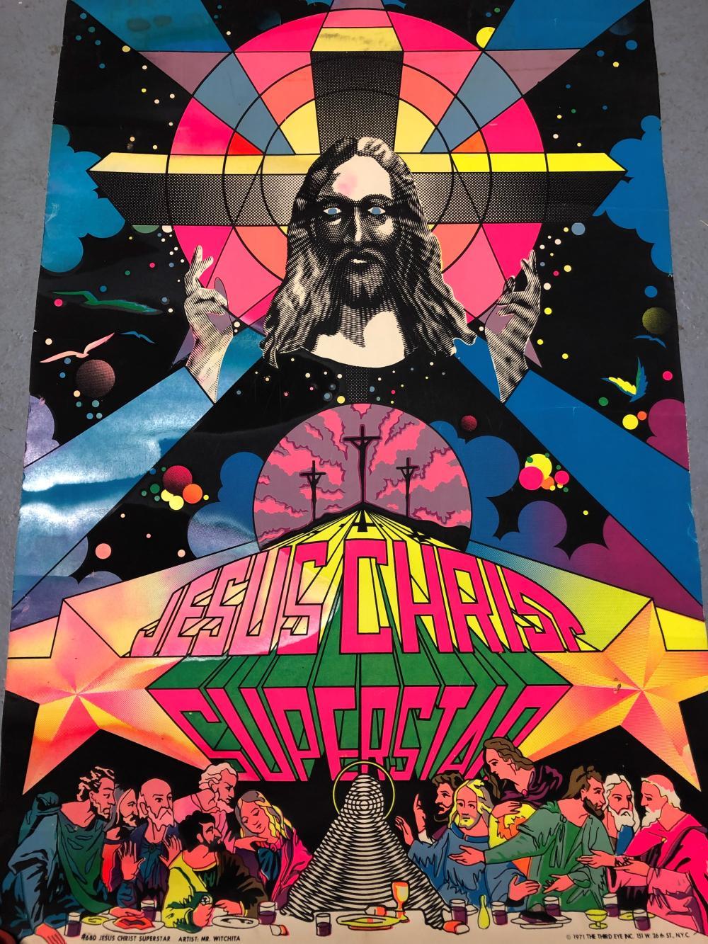 vintage jesus christ superstar poster