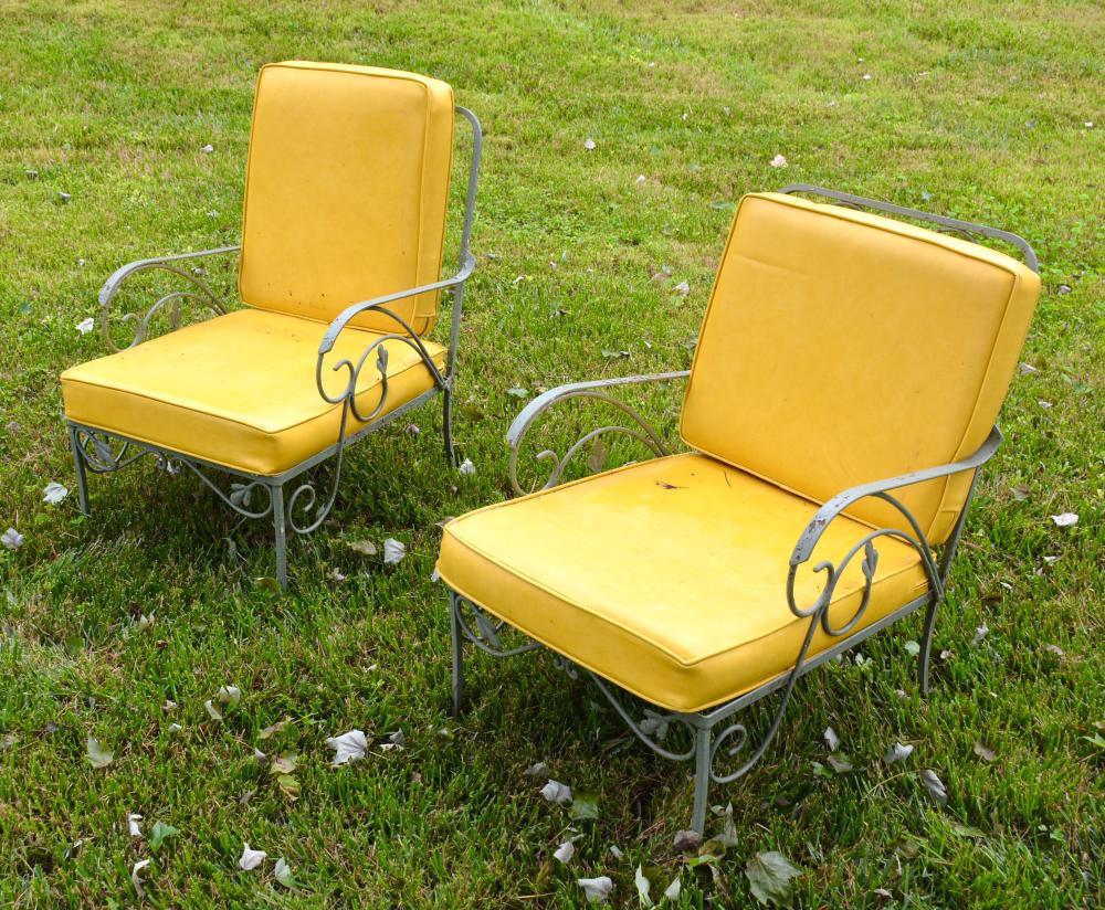 vintage salterini patio furniture russell woodard pair of chairs