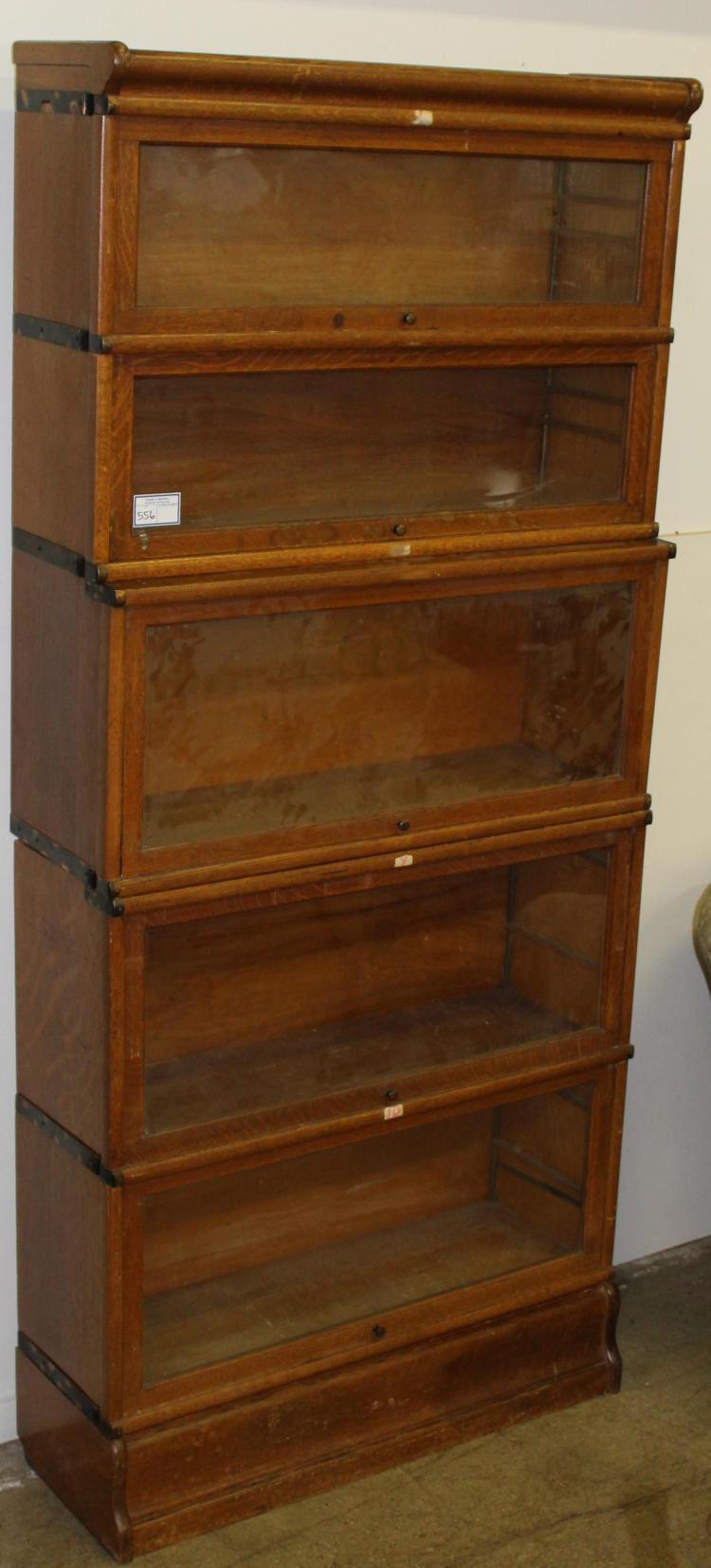 Globe Wernicke 5 Section Oak Barrister Bookcase