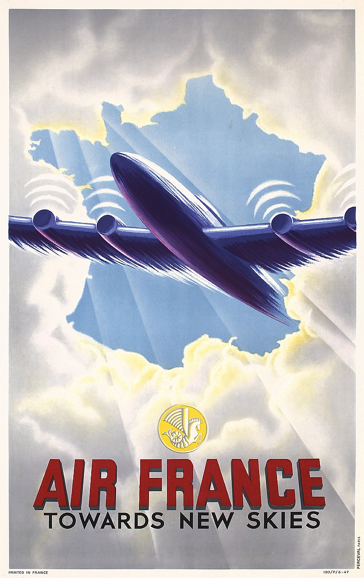 Air France - Towards New Skies, Anonymous, 1947