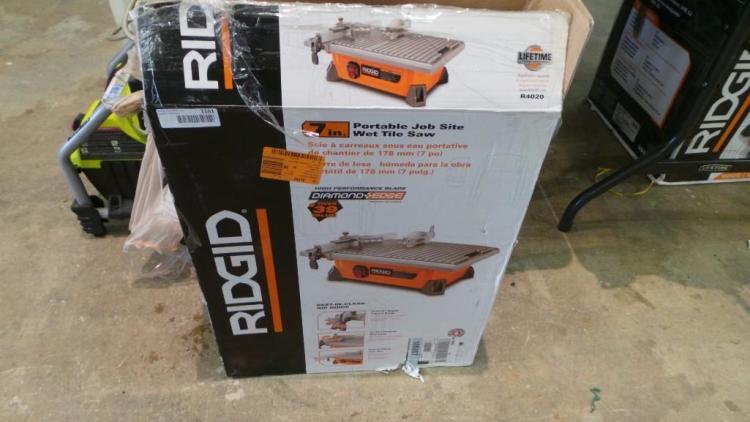 portable job site wet tile saw