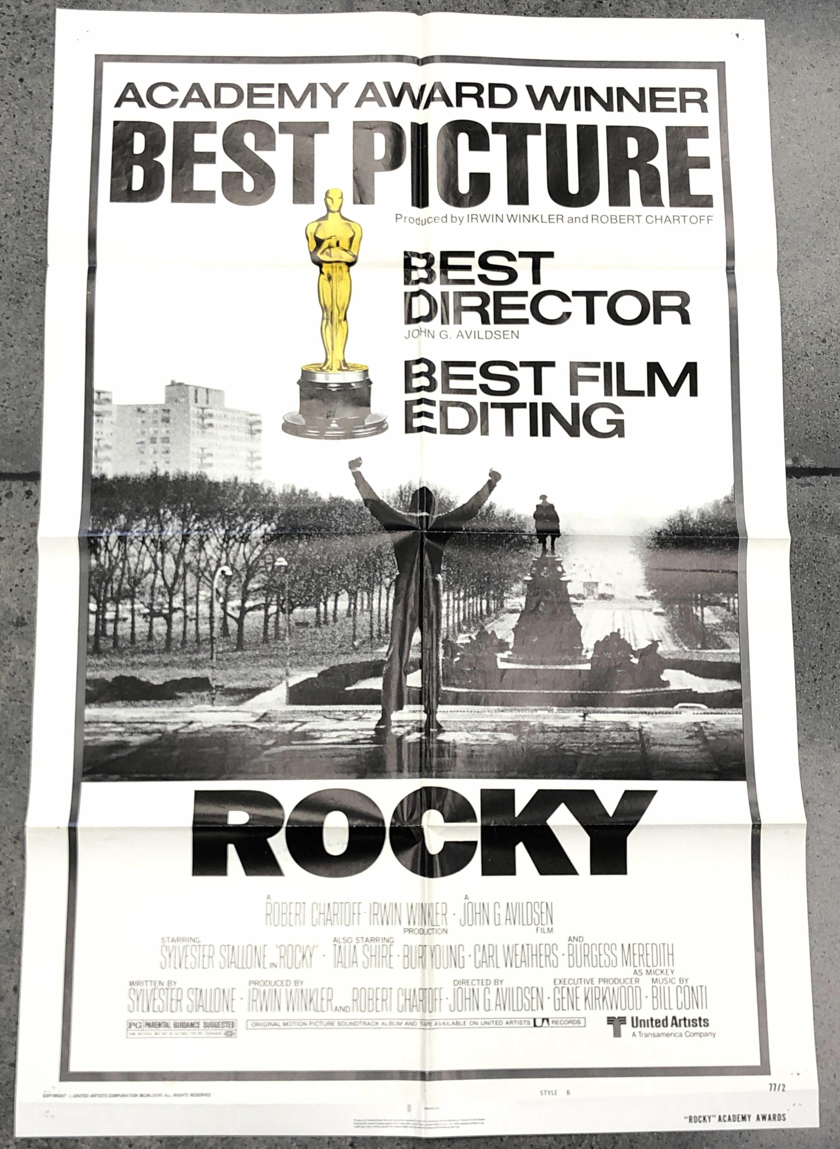 lot 1977 rocky movie poster
