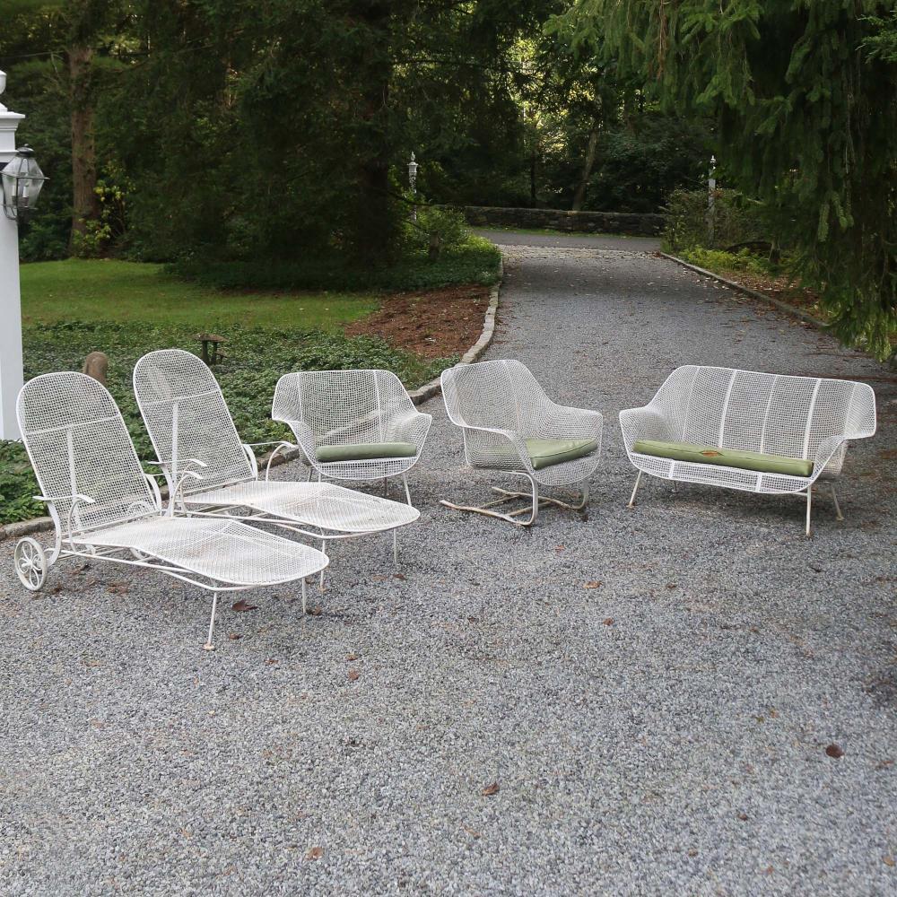 5pc russel woodard sculptura patio furniture