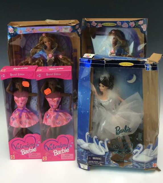 5Pc Valentine Beauty Amp Swan Lake Barbie