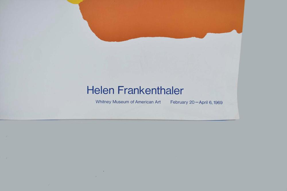 lot helen frankenthaler exhibition poster