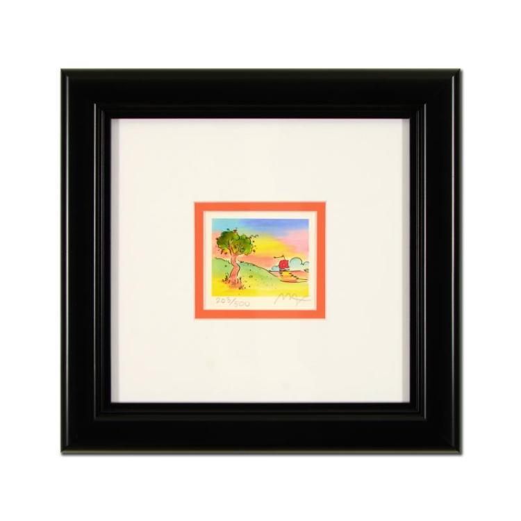 Peter Max Two Sages IV Framed Limited Edition Lithograph