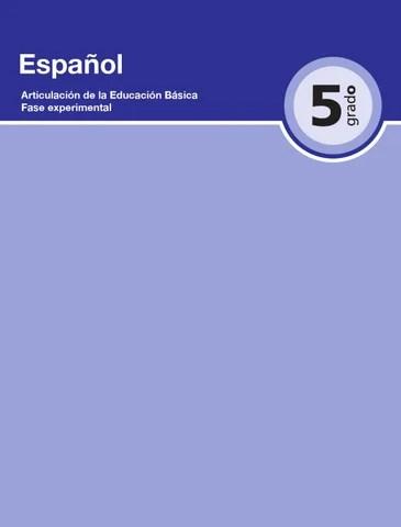 Español 5to. Grado