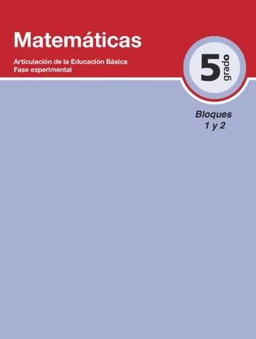 Matemática 5to. Grado Bloques 1 y 2