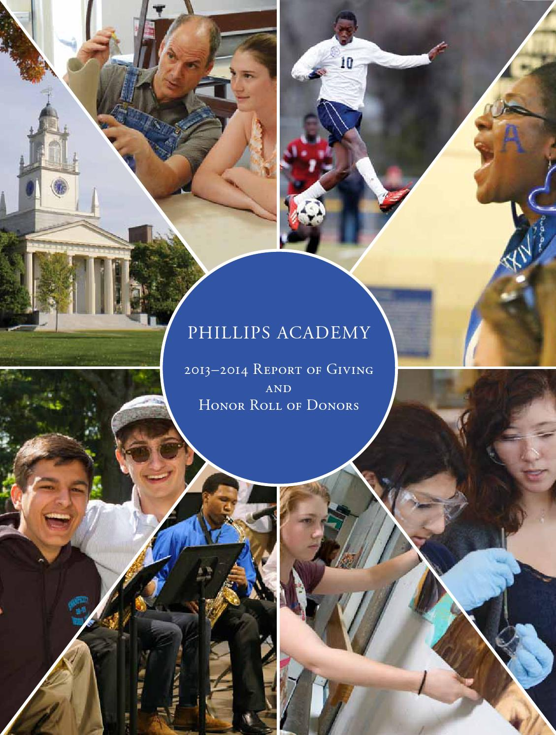 Report Of Giving 2014 By Phillips Academy Issuu