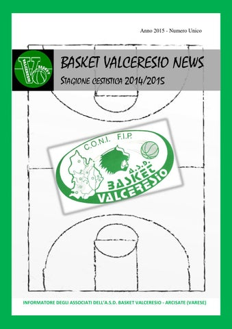 BASKET VALCERESIO NEWS 2015