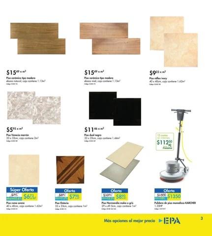 Epa elsalvador catalogo de promociones de cer mica for Precios de pisos ceramicos