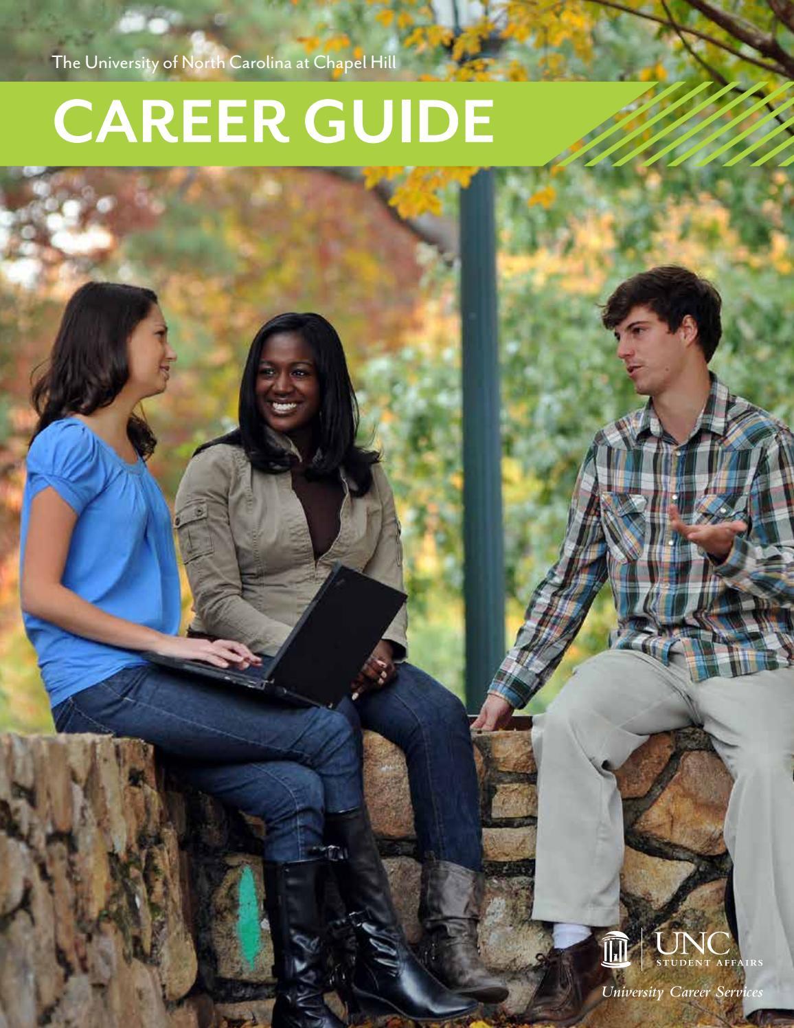 unc ucs career guide 2016 2017 by unc chapel hill university