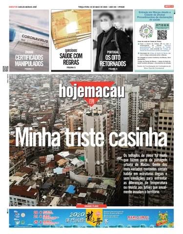 Hoje Macau 19 MAI 2020 # 4528
