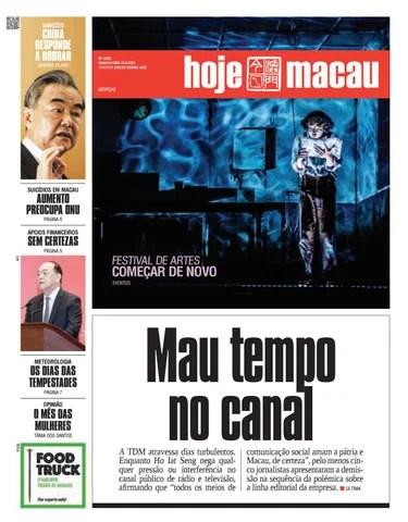 Hoje Macau 24 MAR 2021 #4735