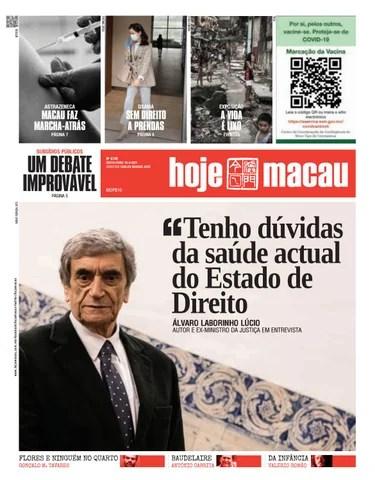 Hoje Macau 16 ABRIL 2021 #4749
