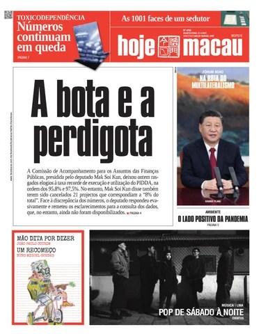 Hoje Macau 21 ABRIL 2021 #4752
