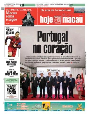 Hoje Macau 11 JUNHO 2021 #4787