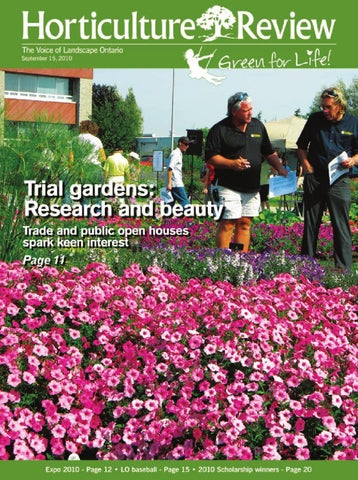 Horticulture Review September 2010 By Landscape Ontario Issuu