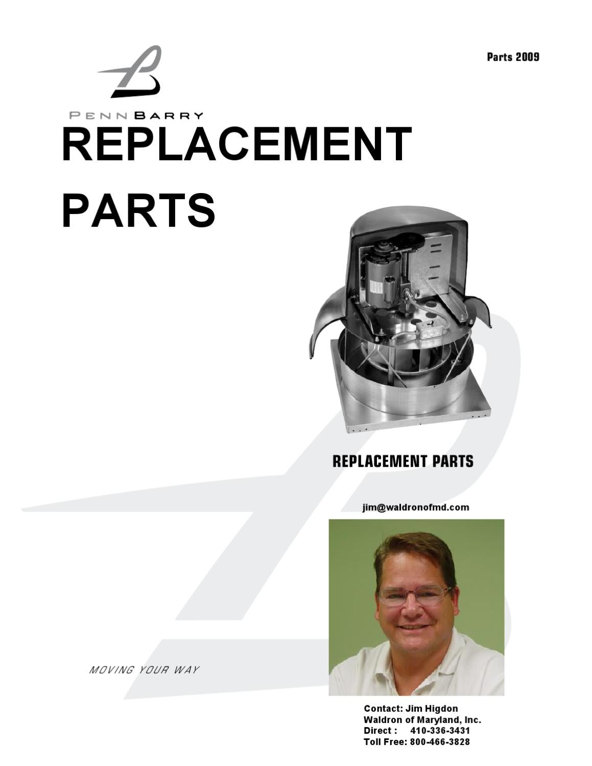 pennbarry replacement parts by waldron