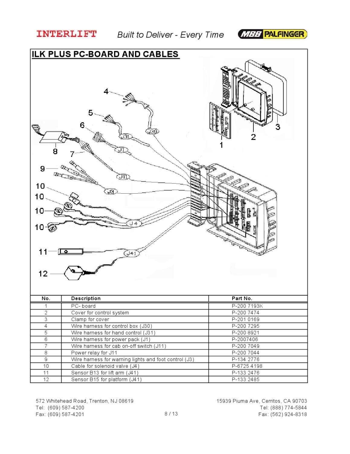 Interlift Wiring Diagram Schematics Pro Tech Waltco Liftgate Electrical Diagrams