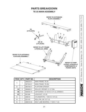 Maxon TE25 & TE 25L Series Liftgate by THE Liftgate Parts Co  Issuu