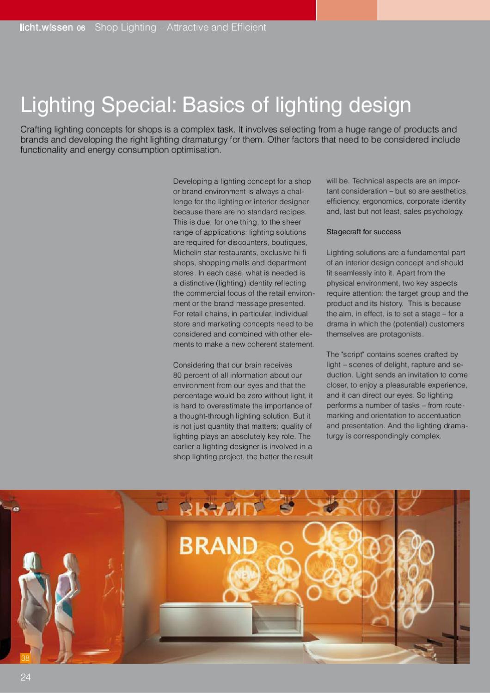 licht wissen no 06 shop lighting
