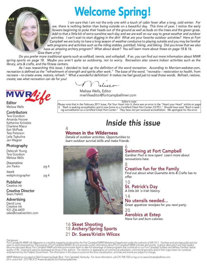 3-11 fort campbell mwr life by creative ink - issuu