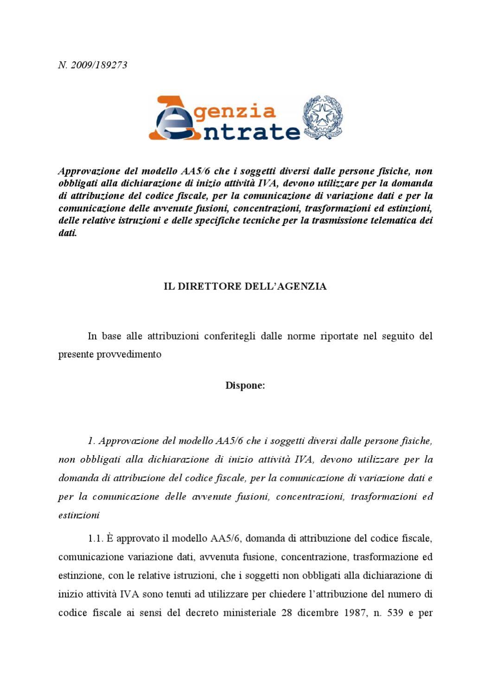Modulo Richiesta Variazione Dati Codice Fiscale Del