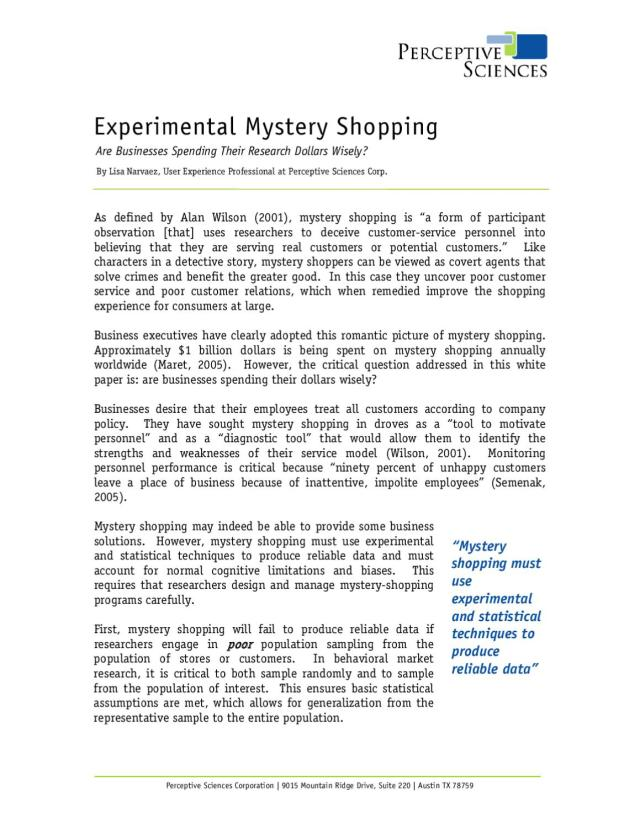 VACANT POST OF A MYSTERY SHOPPER by Walter Pecker - issuu