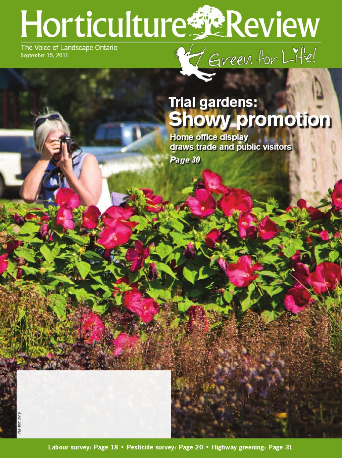 Horticulture Review September 2011 By Landscape Ontario Issuu