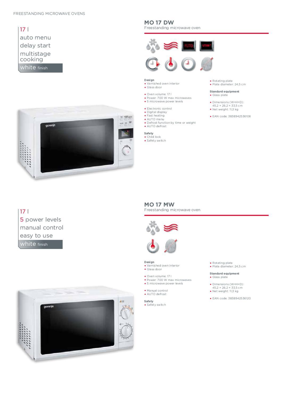 microwave ovens by gorenje d o o issuu