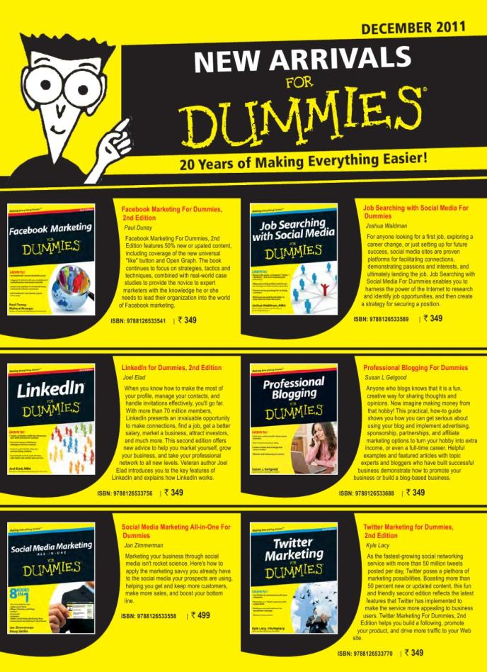 For Dummies India New Arrivals by Wiley India - Issuu