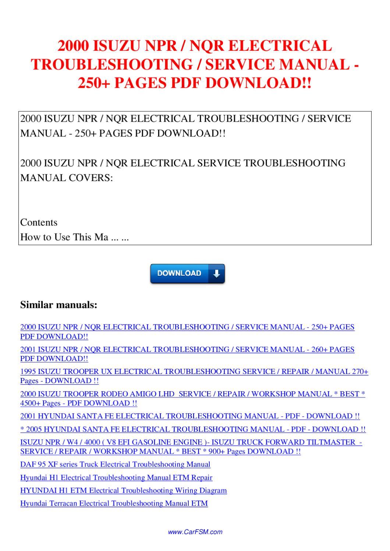 2000 Isuzu Trooper Owners Manual Diagram Download Npr Wiring