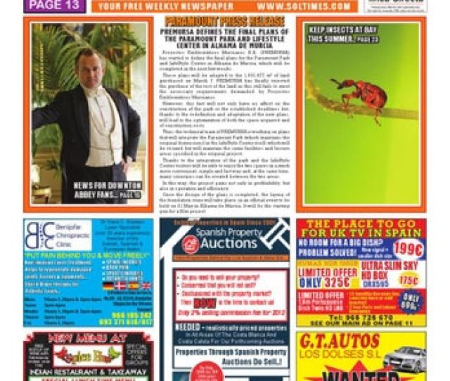 Sol Times Newspaper Issue 223 Costa Blanca Edition