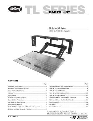 SAF Holland TL Series Liftgate by THE Liftgate Parts Co