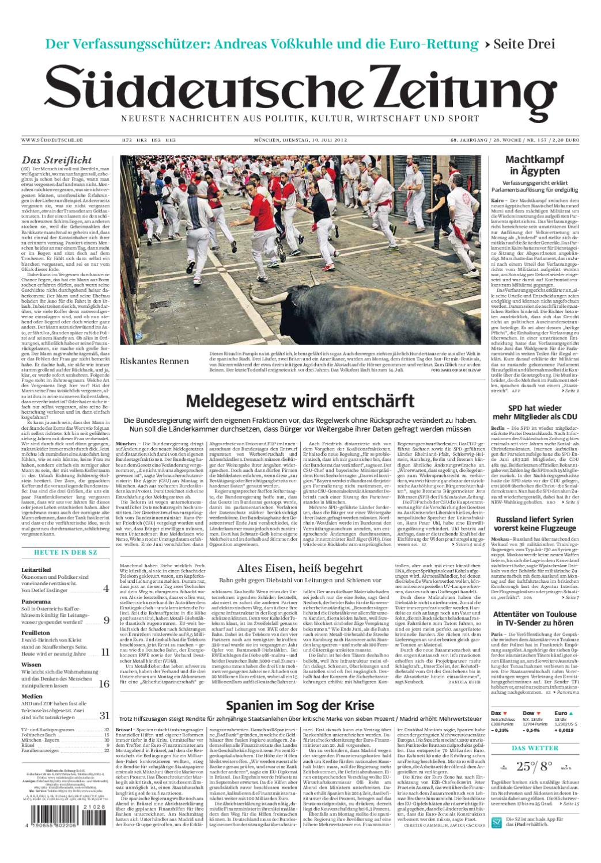 Suddeustche Zeitung By Mario Garcia Issuu